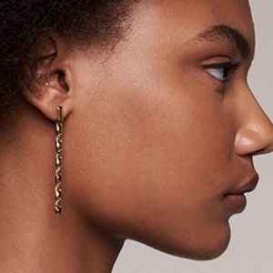 MICHAEL KORS Precious Mercer Link Linear Earrings.